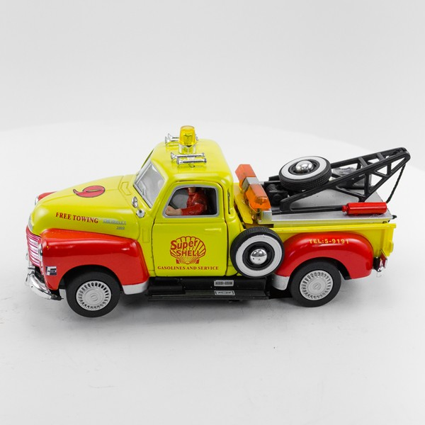 Stock Number 16172: Yellow Tow Truck by Carrera