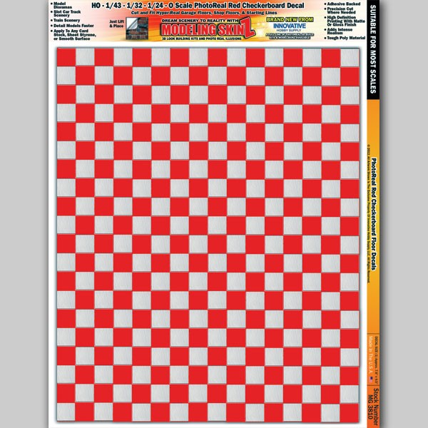 """MG 3810 """"Red Checkerboard Floor"""" Photo Real 3D Modeling SkinZ"""