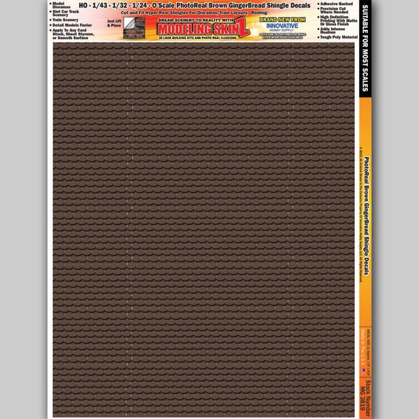 """MG 3819 """"Brown Gingerbread Shingles"""" Photo Real 3D Modeling SkinZ"""