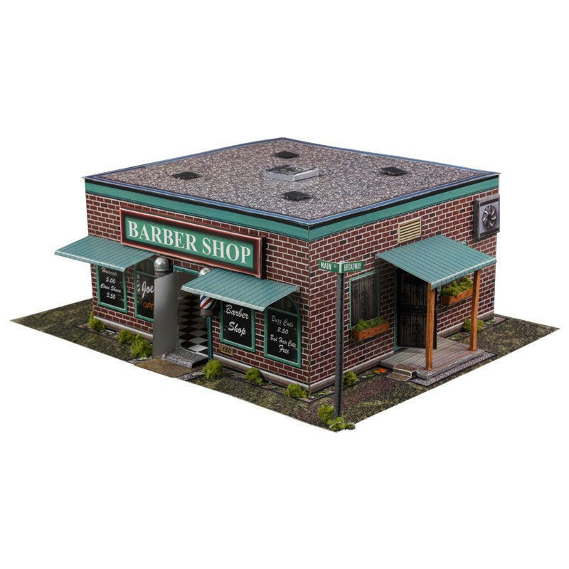 BK 3209 1:32 Scale Barber Shop Building Kit