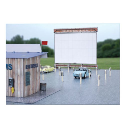 "BK 4819 1:48 Scale ""Drive In Theater"" Photo Real Scale Building Kit"