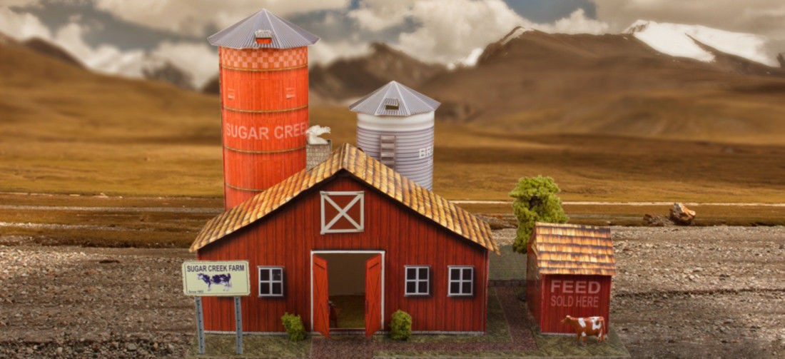 Bk 6405 1 64 scale farm kit photo real scale building kit for 1 64 farm layouts