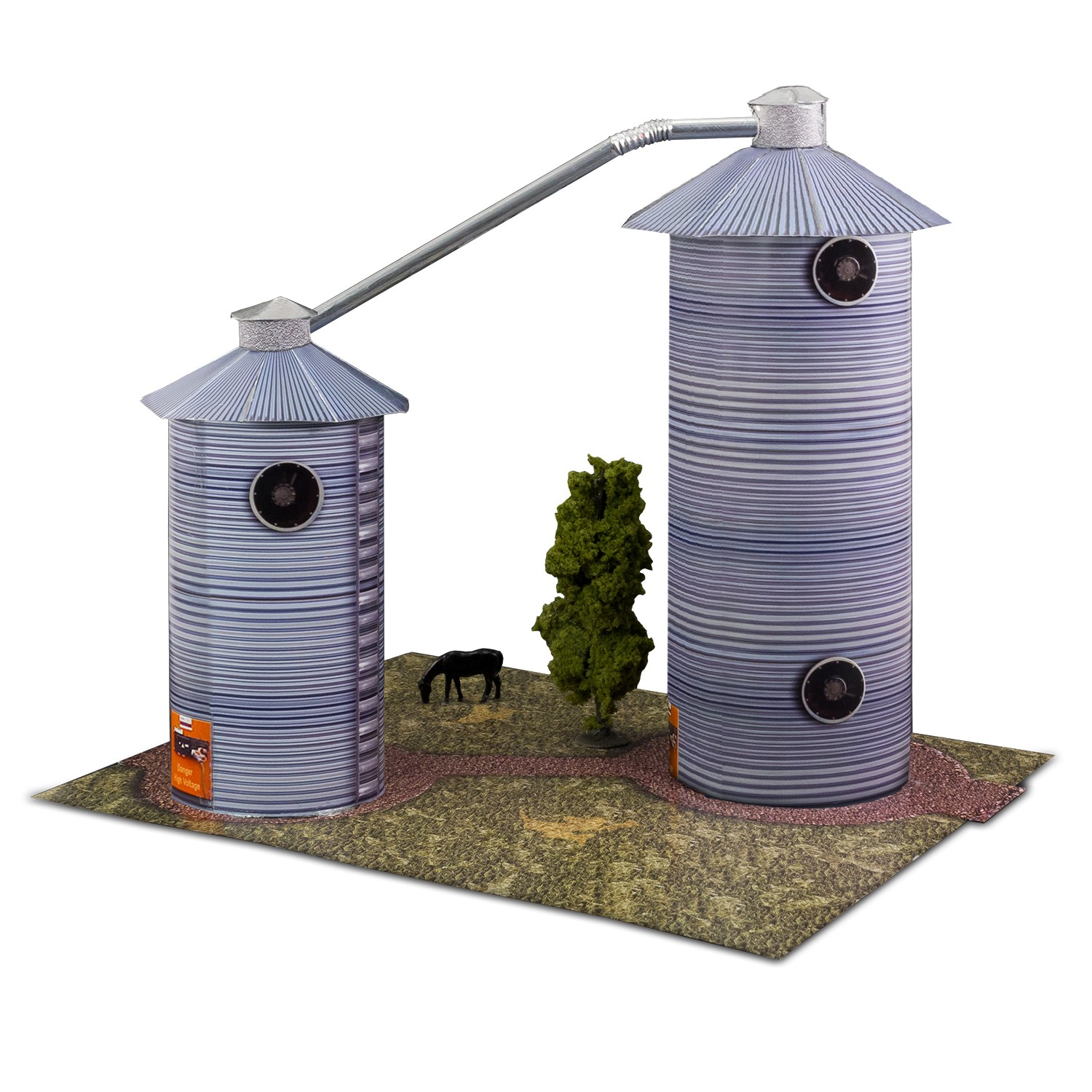 """BK 4804 1:48 Scale """"Grain Dryers"""" Photo Real Scale Building Kit"""