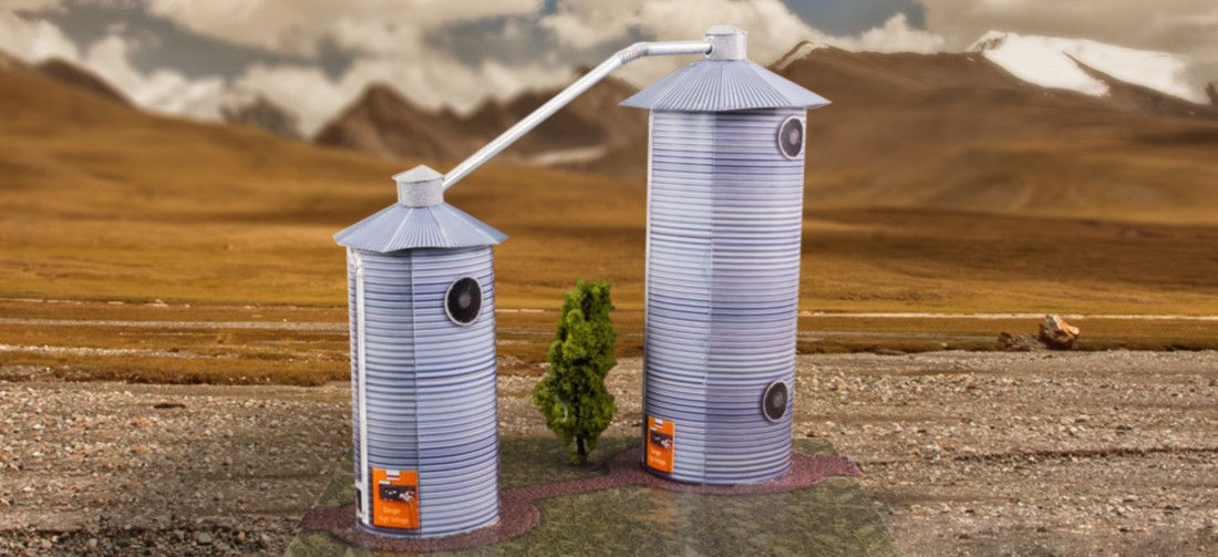 "BK 4804 1:48 Scale ""Grain Dryers"" Photo Real Scale Building Kit"
