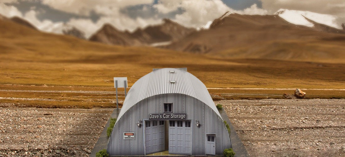 "BK 6400 1:64 Scale ""Quonset Hut"" Photo Real Scale Building Kit"