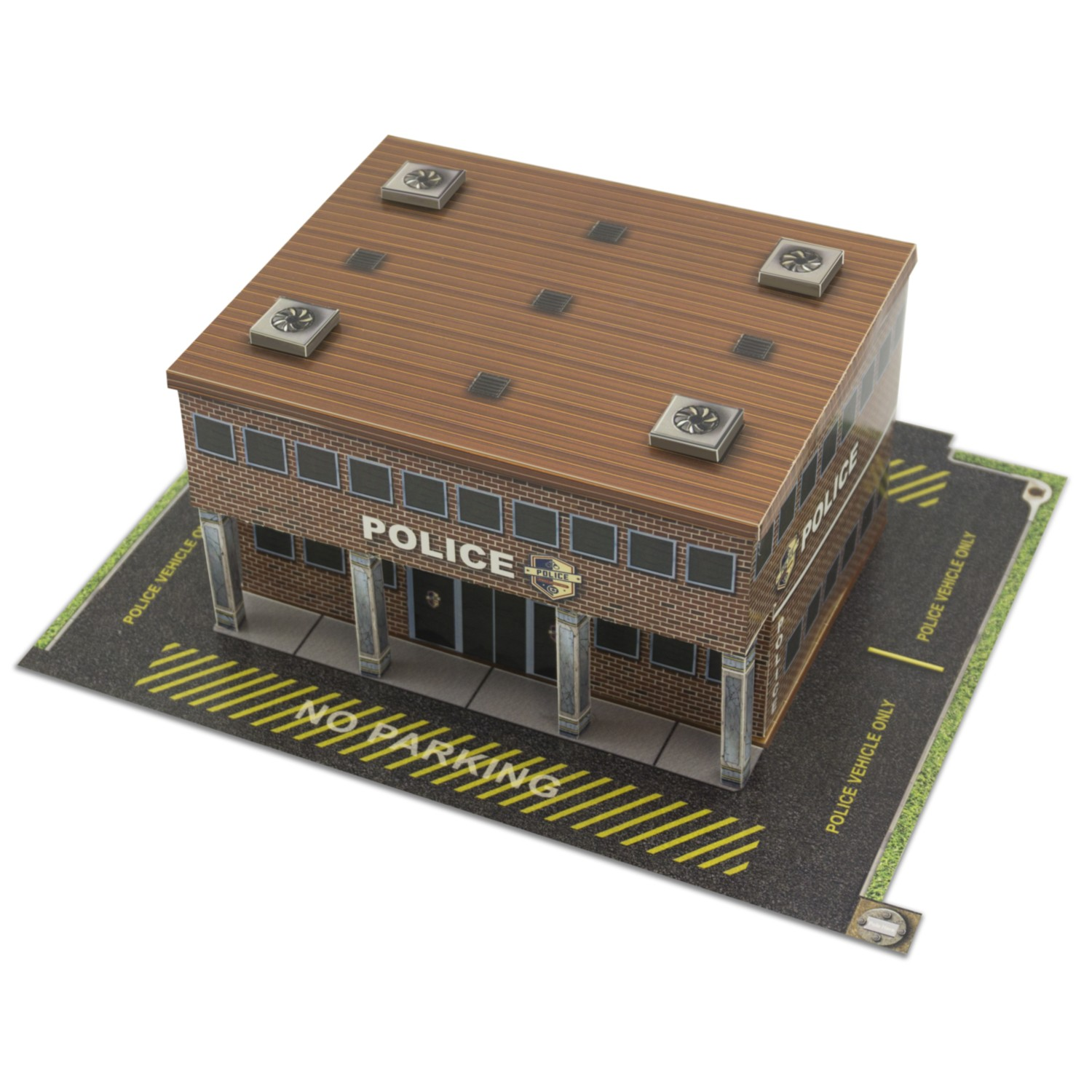 BK 4833 1:48 Scale Police Station Building Kit