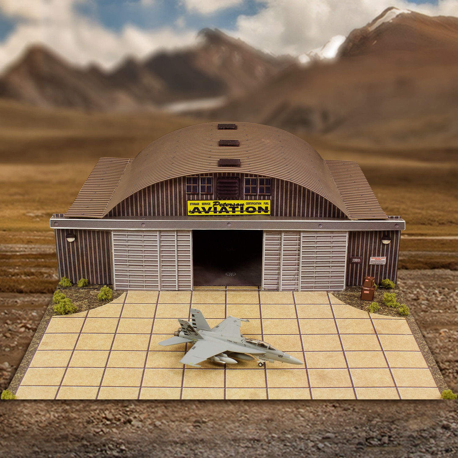 1/72 to 1/200 Aircraft Hangar Photo Real Scale Model Miniature Building Kit