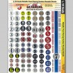 MG 3406 Ultracal Decals - Metallic Pearl Racing Numbers Roundel Decals