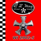 "WI 2902-S Silver Five Spoke ""Keystone Style"" EZ Mag Wheel Inserts"