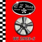 WI 2903-S Silver Classic Five Spoke Mag EZ Mag Wheel Inserts With Circular Backer