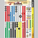 MG 3303 Ultracal Racing Stripes and Roundel Decals for 1:32 Scale Applications