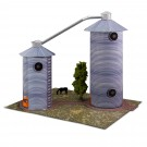 "BK 6404 1:64 Scale ""Grain Dryers"" Photo Real Scale Building Kit"