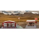 "BK 8711 1:87 Scale ""Gas Station & Fire Department"" Photo Real Scale Building Kit"