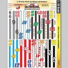 MG 3341 Ultracal Stock Car Racing Stripes and Number Decals for 1:32 Scale Applications