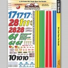 MG 3443 Ultracal Decals - Dirt Track Race Car Decals