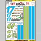 MG 6456-2 Ultracal Racing Dirt Track Racing Decals Style 2 1:24 Scale