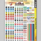 MG 3201 Ultracal Decals - Racing Number and Square Decals for 1/43 O Scale