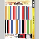MG 3204 Ultracal Racing Scale Racing Stripe Decals 1:43 Scale