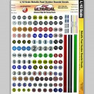 MG 3206 Ultracal Racing Scale Metallic Pearl Number Roundel Decals 1:43 Scale