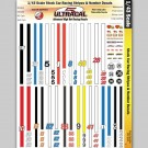 MG 3241 Ultracal Stock Car Racing Stripes & Number Decals 1:43 Scale