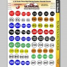 MG 3302 Ultracal Three Digit Racing Numbers and Roundel Decals for 1:32 Scale Applications