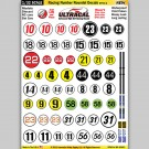 MG 6300-2 Ultracal Racing Number Roundel Decals Style 2