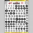 MG 6300-3 Ultracal Racing Number Roundel Decals Style 3