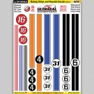 MG 6403-3 Ultracal Racing Stripe and Roundel Decals Style 3 1:24 Scale