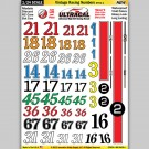 MG 6420-1 Ultracal Vintage Racing Numbers Style 1 Decals 1:24 Scale