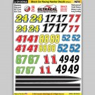 MG 6440-2 Ultracal Stock Car Racing Number Style 2 Decals 1:24 Scale