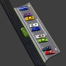 1:64 Scale Slot Car HO Trackside Parking Lot and Staging Area, fits AFX, Aurora, Tyco, Tomy, Johnny Lighting PL1010-1