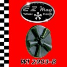 WI 2903-B Black Classic Five Spoke Mag EZ Mag Wheel Inserts With Circular Backer