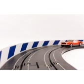AFX Slot Car Guard Rail Set - PhotoReal FITS: 1/64 & 1/43 Scale Aurora, Model Motoring -Style 4 Blue