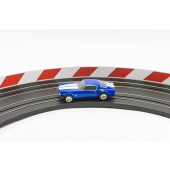 AFX Slot Car Guard Rail Set - PhotoReal FITS: 1/64 & 1/43 Scale Aurora, Model Motoring -Style 3 Red