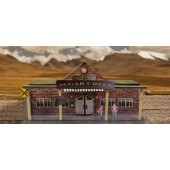 "BK 4817 1:48 Scale ""Train Station"" Photo Real Scale Building Kit"