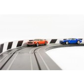 1/64 NEW AFX Slot Car Guard Rail Set - PhotoReal FITS: Aurora, Model Motoring -Style 6 Black & White