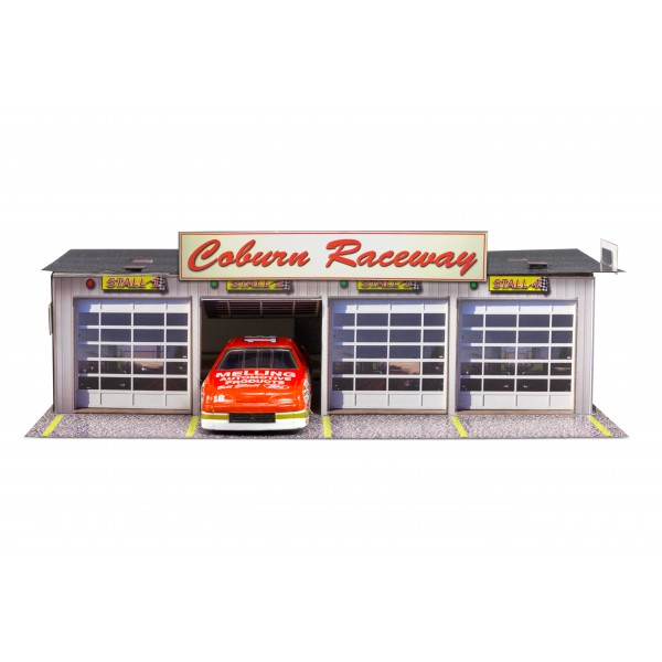 Bk 6411 1 64 scale 4 stall pit garage photo real scale for 4 stall garage