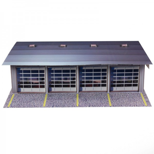 Bk 6411 1 64 scale 4 stall pit garage photo real scale 4 car garage kit
