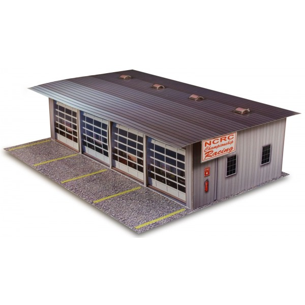 Bk 4811 1 48 scale 4 stall pit garage photo real scale for 1 1 2 car garage kits