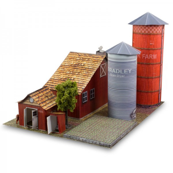 Bk 4805 1 48 Scale Farm Building Kit Photo Real Scale