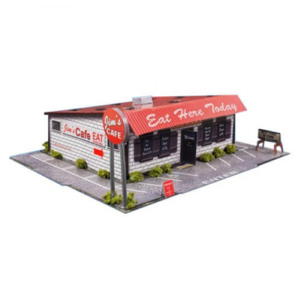 Bk 6420 1 64 Scale Quot Diner Quot Photo Real Scale Building Kit
