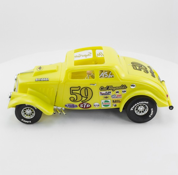 Stock Number: 16119 - Yellow Drag Car by Revell