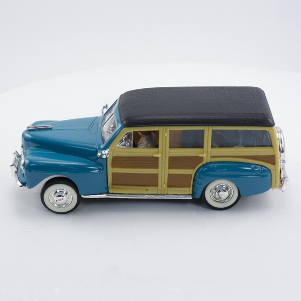 Stock Number: 16151 Teal Diecast Woody Wagon with Carrera Chassis