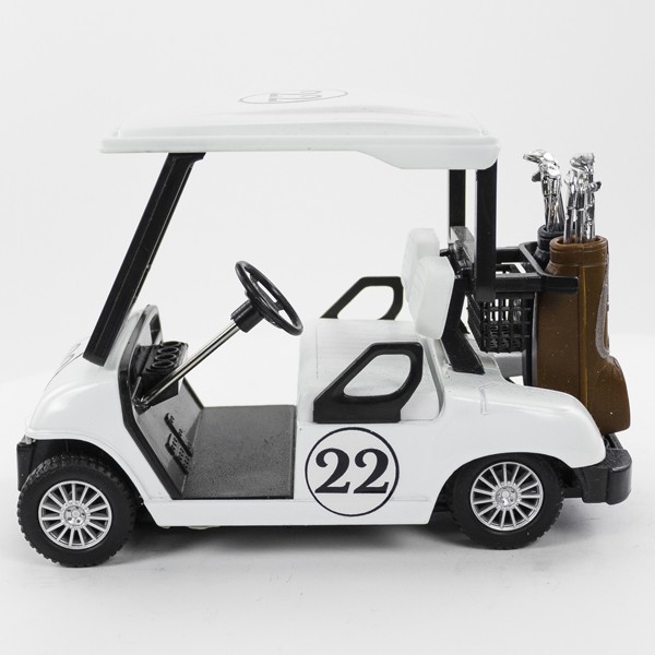 Stock Number: 16191 - White Golf Car by Unknown