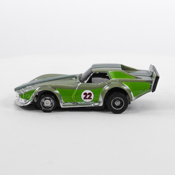 Stock Number: 16199 - Green Dark Green Stripe Car by Unknown