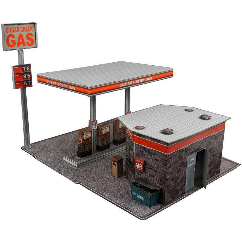 BK 3208 1:32 Scale Gas Station Building Kit