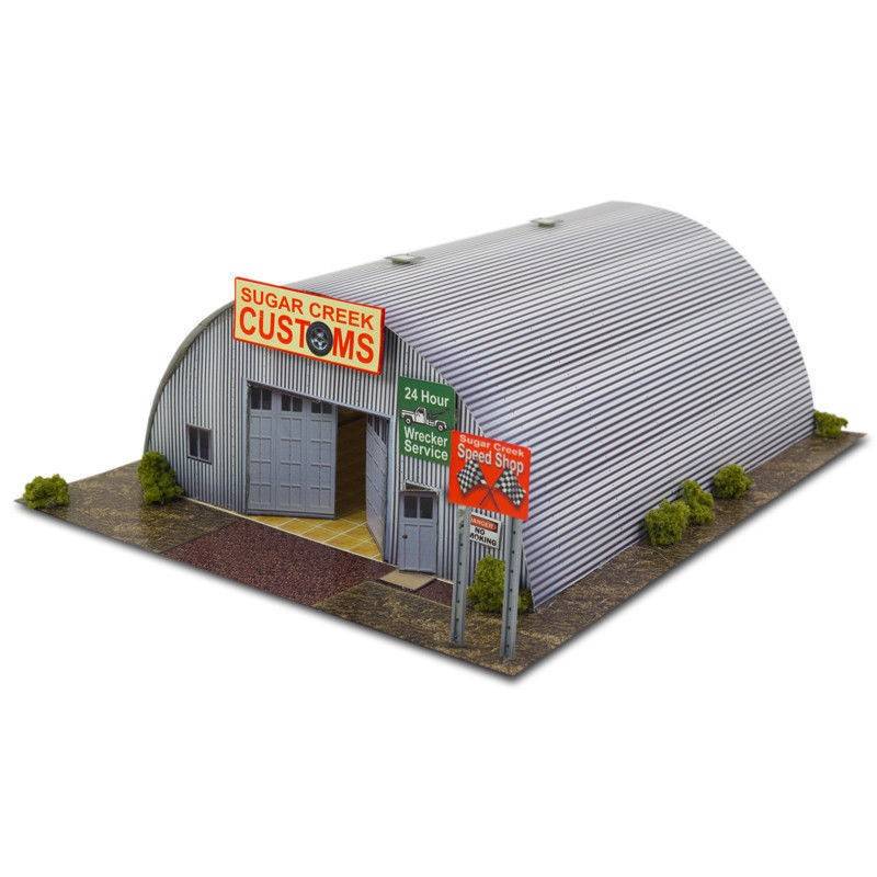 """BK 6400 1:64 Scale """"Quonset Hut"""" Photo Real Scale Building Kit"""
