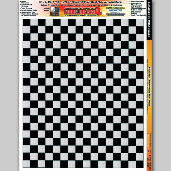 "MG 3815 ""Checkerboard Floor"" Photo Real 3D Modeling SkinZ"