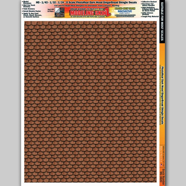 "MG 3820 ""Dark Wood Gingerbread Shingles"" Photo Real 3D Modeling SkinZ"