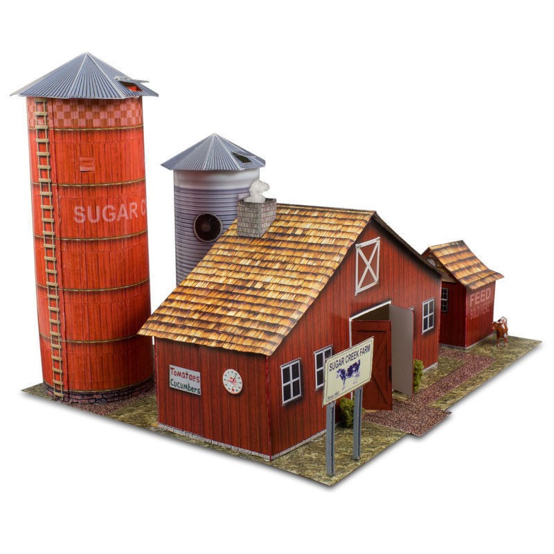 "BK 6405 1:64 Scale ""Farm Kit"" Photo Real Scale Building Kit"